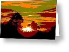 Sunset 6 Greeting Card