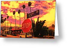 Sunset 7700w Greeting Card