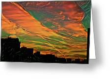Sunset Above City After A Thunder-storm Greeting Card