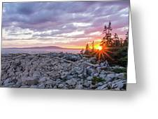 Sunset Acdia National Park  Greeting Card