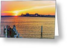 Sunset Across The Chesapeake Greeting Card