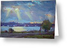 Sunset After The Rain Greeting Card
