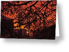 Sunset After The Snow Storm Greeting Card