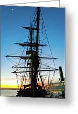 Sunset Ahoy Greeting Card