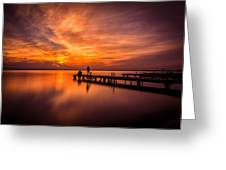 Sunset Albufera 2 Greeting Card
