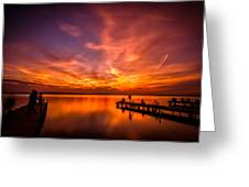 Sunset Albufera Greeting Card