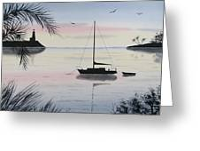 Sunset Anchorage 4 Greeting Card