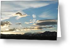 Sunset And Iridescent Cloud Greeting Card