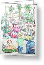 Sunset And Labrea In Hollywood Greeting Card