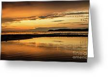 Sunset And Reflection Greeting Card