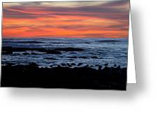 Sunset And Rocks Greeting Card