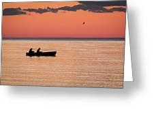 Sunset Anglers Greeting Card