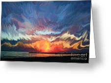 Sunset Art Landscape Greeting Card
