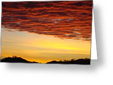 Sunset Art Prints Canvas Orange Clouds Twilight Sky Baslee Troutman Greeting Card