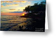 Sunset At A-bay Greeting Card by Bette Phelan