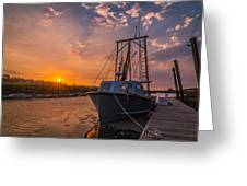 Sunset At Alviso Greeting Card
