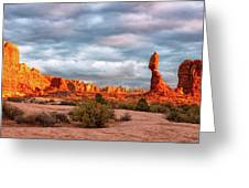 Sunset At Arches National Park 16x9 Greeting Card