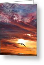 Sunset At Arverne Greeting Card