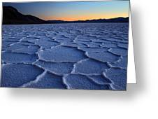 Sunset At Badwater In Death Valley Greeting Card by Pierre Leclerc Photography