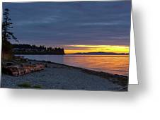 Sunset At Birch Bay State Park Greeting Card
