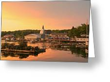 Sunset At Boothbay Harbor Greeting Card