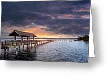 Sunset At Boulevard Park In Bellingham Washington Greeting Card