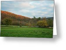 Sunset At Boxley Valley Arkansas Greeting Card