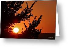 Sunset At Budapest Greeting Card