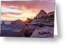 Sunset At Canyonlands Greeting Card
