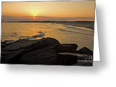 Sunset At Cape May Greeting Card by Robert Pilkington