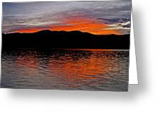 Sunset At Carter Lake Co Greeting Card by James Steele