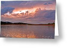 Sunset At Carter Lake Colorado Greeting Card by James Steele
