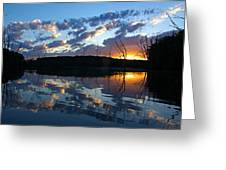 Sunset At Chester Lake Greeting Card