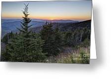 Sunset At Clingmans Dome Greeting Card