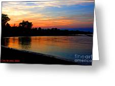 Sunset At Colonial Beach Cove Greeting Card