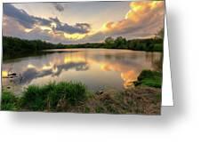 Sunset At Community Lake #8 Greeting Card