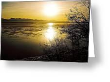 Sunset At Cook Inlet - Alaska Greeting Card