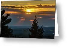 Sunset At Cypress #3 Greeting Card