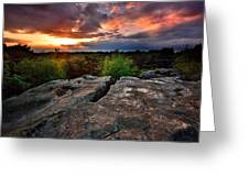 Sunset At Fontainebleau Greeting Card