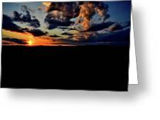 Sunset At Glassy Greeting Card
