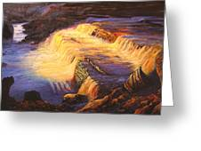 Sunset At Grand Falls Greeting Card