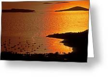 Sunset At Great Cruz On St. John Greeting Card