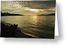 Sunset At Kitsilano Greeting Card by Tom Buchanan