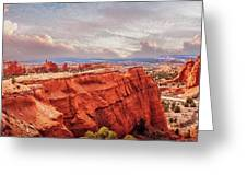 Sunset At Kodachrome Basin State Park Panorama Greeting Card