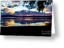 Agency Lake Sunset, Oregon Greeting Card