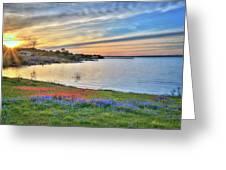 Sunset At Lake Buchanan Greeting Card