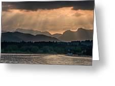 Sunset At Lake District Greeting Card