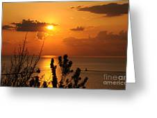 Sunset At Lake Huron Greeting Card