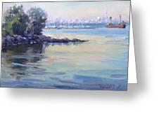 Sunset At Lake Ontario  Greeting Card