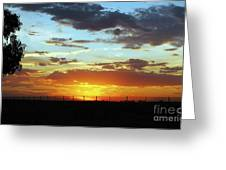 Sunset At Little River Victoria Greeting Card